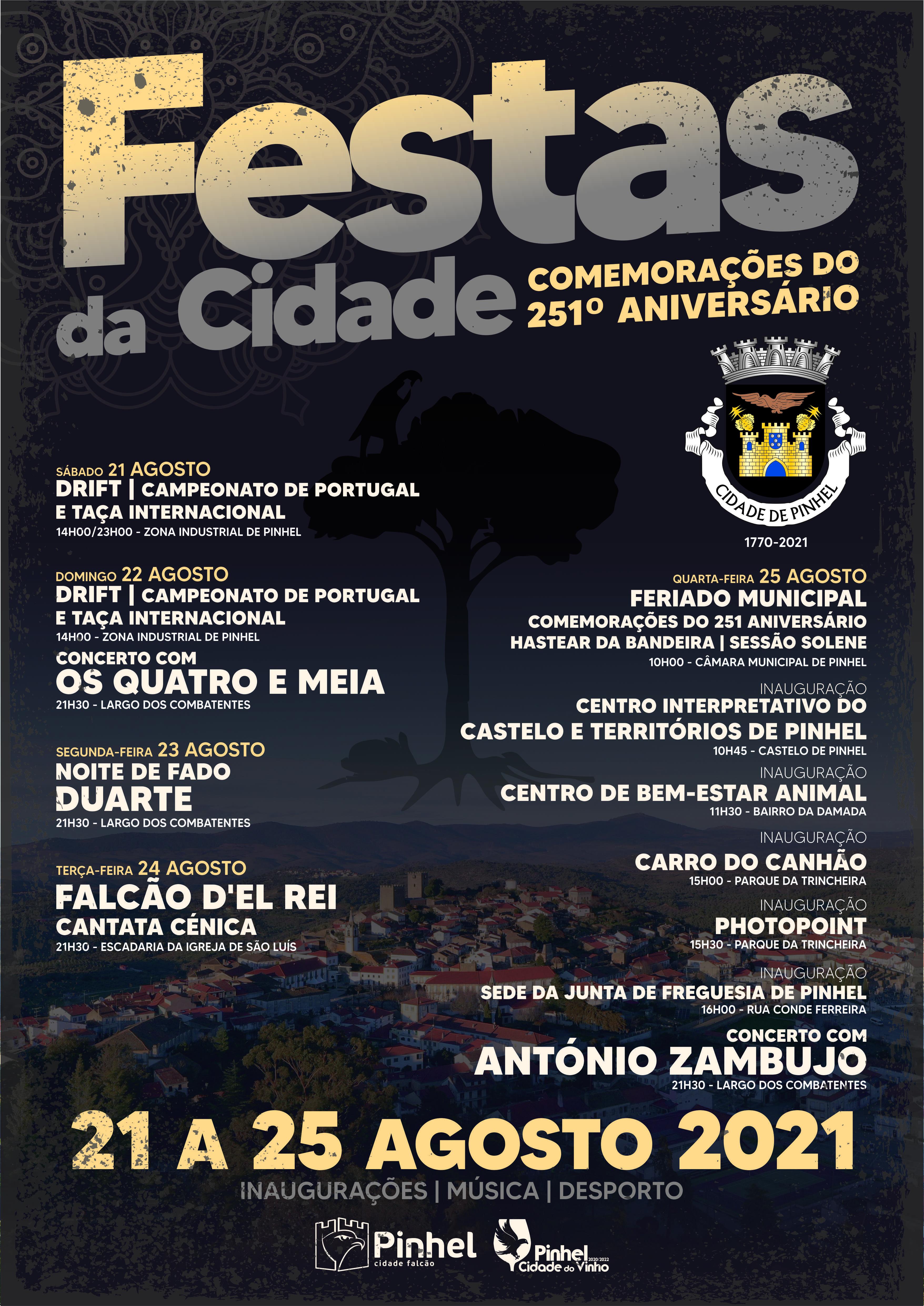 Cartaz Festas da Cidade de Pinhel 2021